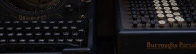 typewriter and calculator